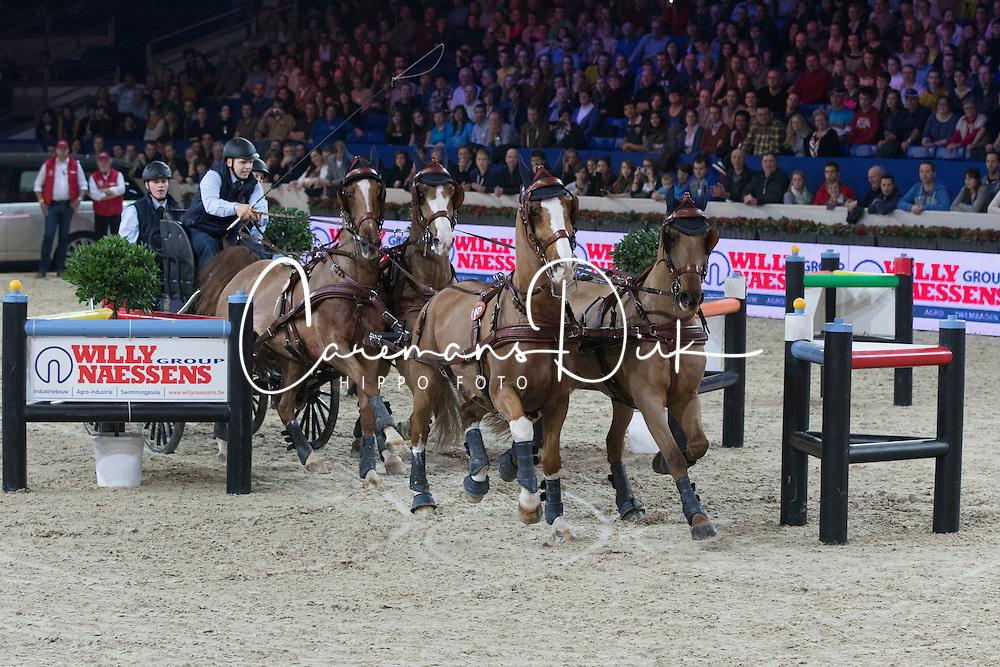 Geerts Glenn (BEL)<br /> FEI World Cup Driving<br /> Flanders Christmas Jumping - Mechelen 2012<br /> © Dirk Caremans