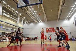 Matthias Seilund of Bristol Flyers takes a shot at goal - Mandatory byline: Dougie Allward/JMP - 12/03/2016 - FOOTBALL - SGS Wise Campus - Bristol, England - Bristol Flyers v Glassgow Rocks - British Basketball League
