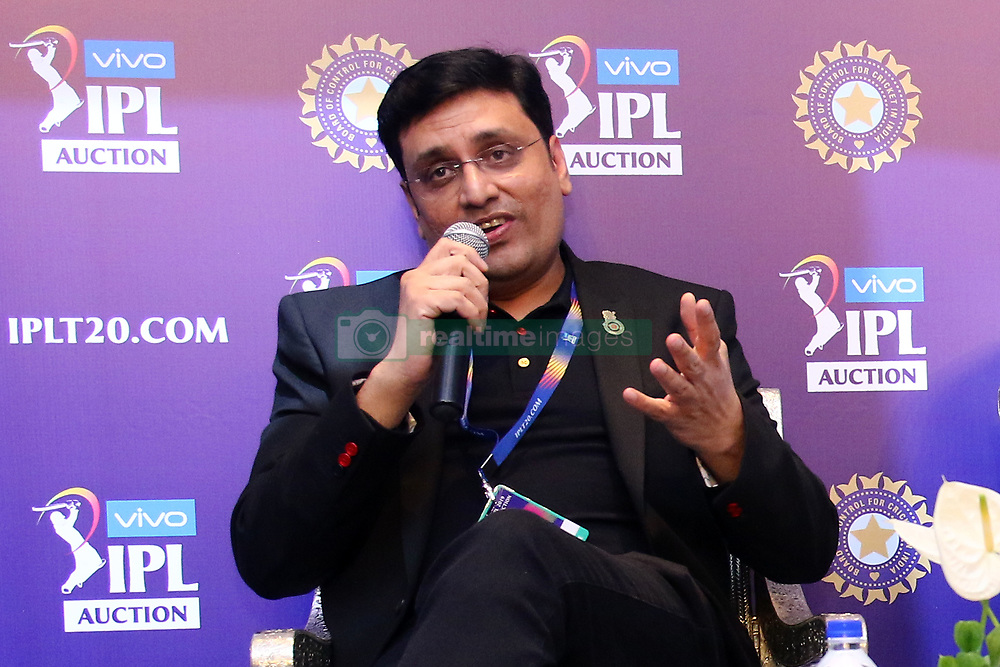December 18, 2018 - Jaipur, Rajasthan, India - RCB team Chairman Sanjeev Churiwala speaks at a press conference for the Indian Premier League 2019 auction in Jaipur on December 18, 2018, as teams prepare their player rosters ahead of the upcoming Twenty20 cricket tournament next year. The 2019 edition of the IPL -- one of the world's most-watched sporting events attracting the world's top stars -- is set to take place in April and May next year.(Photo By Vishal Bhatnagar/NurPhoto) (Credit Image: © Vishal Bhatnagar/NurPhoto via ZUMA Press)