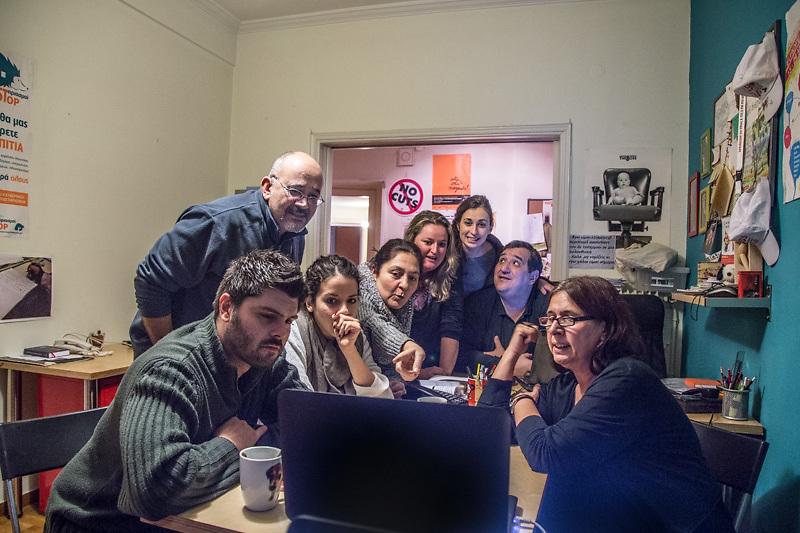 """I locali dell'associazione """"Solidarity 4 all"""" sostenuta da partito Syriza."""