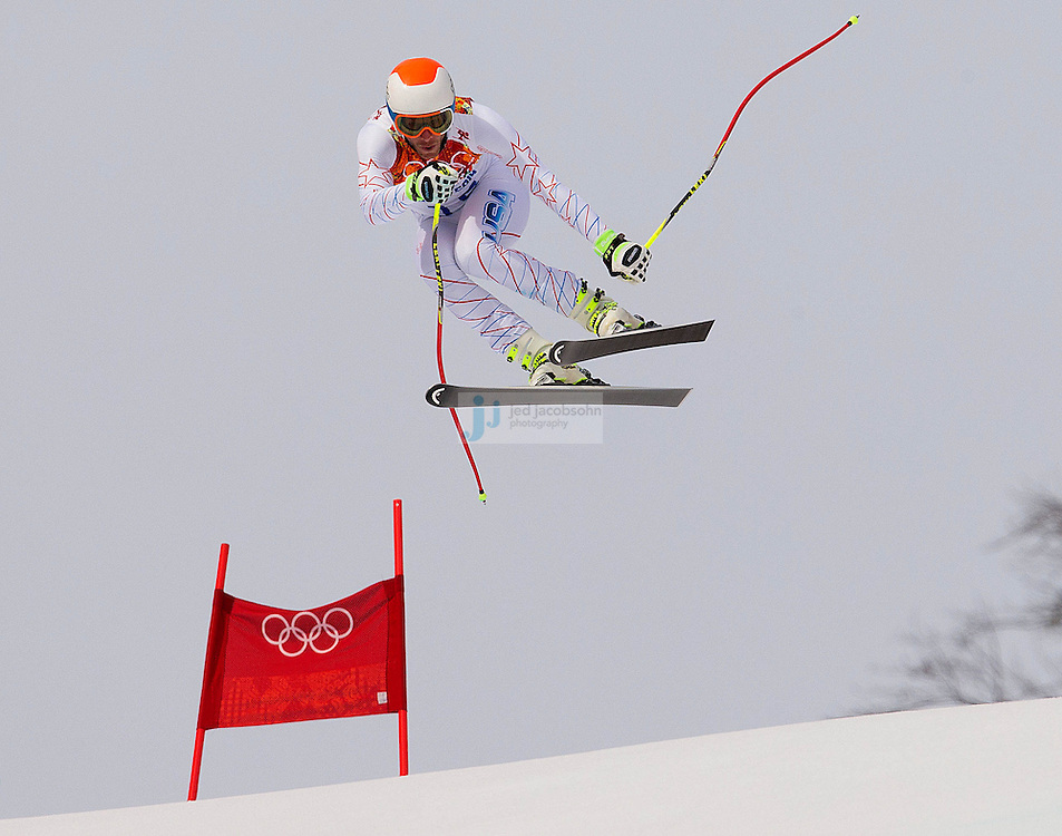 Alpine Skiing: 2014 Winter Olympics: USA Bode Miller in action during Men's Downhill at Rosa Khutor Alpine Center. Krasnaya Polyana, Russia 2/9/2014 CREDIT: Jed Jacobsohn (Photo by Jed Jacobsohn /Sports Illustrated)