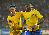 Fotball<br /> Afrika Cup / Afrikamesterskapet<br /> 17.01.2015<br /> Burkina Faso v Gabon<br /> Foto: Panoramic/Digitalsport<br /> NORWAY ONLY<br /> <br /> Malick Evouma - Frederic Bulot ( Gabon )