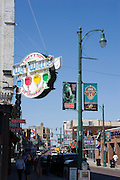 views of Auto Zone Park and Beale Street in downtown Memphis, Tennessee
