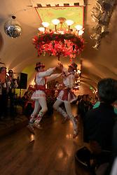ROMANIA BRASOV 27OCT12 - Traditional folklore dancers perform at the Casa Fischer restaurant in Brasov city centre.....jre/Photo by Jiri Rezac / WSPA....© Jiri Rezac 2012