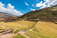 Tipon, Incas ruins in the peruvian Andes at Cuzco Peru
