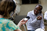 Catherine Raynor, Mile 91, interviewing business entrepreneurs in Nigeria for the Cherie Blair Foundation for Women.