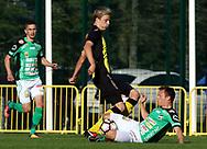 3.9.2017, Tapiolan Urheilupuisto, Espoo.<br /> Ykkönen 2017.<br /> FC Honka - Kokkolan Pallo-Veikot.<br /> Robert Ivanov (Honka) v Timo Rauhala (KPV).