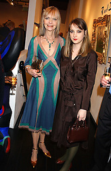 Left to right, JAN DE VILLENEUVE and her daughter DAISY DE VILLENEUVE at the opening of an exhibition of paintings and watercolours by Raoul Dufy held at the Opera Gallery, 134 New Bond Street, London W1 on 6th February 2006.<br /> <br /> NON EXCLUSIVE - WORLD RIGHTS