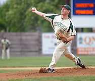 Pennridge's Eric Wesolowski throws a pitch against Souderton in the first inning at Quakertown Memorial Park Monday July 13, 2015 in Quakertown, Pennsylvania.  (Photo by William Thomas Cain)