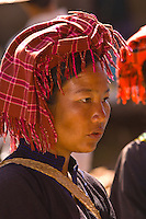 Pao tribe woman at Heho Market, Shan State, Myanmar (Burma)
