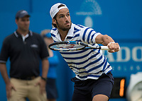 Tennis - 2017 Aegon Championships [Queen's Club Championship] - Day Four, Thursday <br /> <br /> Men's Singles: Round of 16 - Daniil MEDVEDEV (RUS) Vs Thanasi KOKKINAKIS (AUS)<br /> <br /> Feliciano Lopez (SPA) at Queens Club<br /> <br /> COLORSPORT/DANIEL BEARHAM