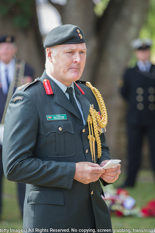 Colonel Rory Radford, Canadian Army Advisor<br /> <br /> 74th Anniversary of the Dieppe Raid (19 August 1942) Memorial Service held at Newhaven Fort and the Canadian War Memorial. Attended by Veterans, dignitaries and guests. Organised by Canadian Veterans Association (Brighton Branch) and Newhaven Council.