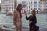 JERRY GOROVOY; CAROLINE ROUX, Hauser and Wirth cocktail reception. Palazzo Balbi-Valier, Dorsoduro 866, Venice, Venice Biennale, Venice. 5 May 2015