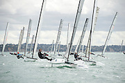 Thilo Keller (GER7), race eight of the A Class World championships regatta being sailed at Takapuna in Auckland. 15/2/2014