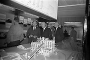 22/10/1963<br /> 10/22/1963<br /> 22 October 1963<br /> R.D.S. Scientific Exhibition opens. Bord na Mona stand at the exhibition. Minister for Transport and Power Mr. Erskine Childers (with pipe) with Mr. D.C. Lawlor, Managing Director, Bord na Mona on his left.