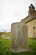Gravestone at St Oswalds Church, Widford, in the Cotswolds, Oxfordshire, UK