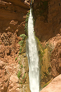 Deer Creek Falls plummets to the Colorado River, Grand Canyon National Park, Arizona, US