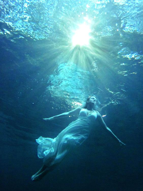Underwater Portrait, Ginnie Springs near Gainesville, FL. Underwater scuba photo shoot.