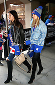 Hailey Baldwin supporting the New York Rangers ice hockey team
