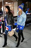 Hailey Baldwin supporting the New York Rangers ice hockey team