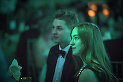 Attendees of the 2016 Alumni Awards Gala at Ohio University's Baker Center Ballroom watch a short video presentation on Friday, October 07, 2016.