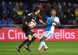 January 10, 2018 - Vila-Real, Castellon, Spain - Mariano Barbosa of Villarreal CF and Claudio Beauvue of Club Deportivo Leganes during the Spanish Copa del Rey, Round of 16, match between Villarreal CF and Club Deportivo Leganes at Estadio de la Ceramica on jenuary 10, 2018 in Vila-real, Spain. (Credit Image: © Maria Jose Segovia/NurPhoto via ZUMA Press)