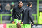 Forest Green Rovers Ebou Adams(14) warming up during the EFL Sky Bet League 2 match between Forest Green Rovers and Scunthorpe United at the New Lawn, Forest Green, United Kingdom on 7 December 2019.