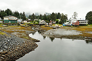 Houses near the Petersburg, Alaska harbor.
