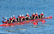 Cambridge. MA. USA. <br /> Championships Women's Eights. <br /> London Training Centre, CANADA, crew  Olympic and WRC medalist, move way from the Eliot Bridge, during the 49th edition of the Head of the Charles.<br /> <br /> <br /> 15:21:15  Sunday  20/10/2013  <br /> <br /> [Mandatory Credit. Peter SPURRIER /Intersport Images]<br /> <br /> Orientation: Landscape