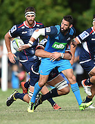 Billy Guyton during a pre season Super Rugby match. Blues v Storm, Pakuranga Rugby Club, Auckland, New Zealand. Thursday 4 February 2016. Copyright Photo: Andrew Cornaga / www.Photosport.nz
