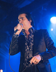 Nick Cave, of Nick Cave and the Bad Seeds, on stage tonight at The Barrowlands, Glasgow, Scotland.<br /> &copy;Michael Schofield.