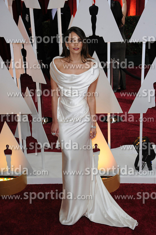 22.02.2015, Dolby Theatre, Hollywood, USA, Oscar 2015, 87. Verleihung der Academy of Motion Picture Arts and Sciences, im Bild Genesis Rodriguez // attends 87th Annual Academy Awards at the Dolby Theatre in Hollywood, United States on 2015/02/22. EXPA Pictures &copy; 2015, PhotoCredit: EXPA/ Newspix/ PGMP<br /> <br /> *****ATTENTION - for AUT, SLO, CRO, SRB, BIH, MAZ, TUR, SUI, SWE only*****