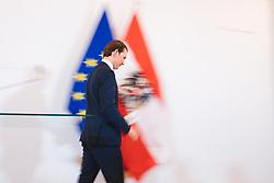 22.05.2019, Bundeskanzleramt, Wien, AUT, OeVP, Presserklaerung von Sebastian Kurz, im Bild Sebastian Kurz (OeVP)// during press conference with Sebastian Kurz of the peoples party at the federal chancellery in Vienna, Austria on 2019/05/22. EXPA Pictures © 2019, PhotoCredit: EXPA/ Florian Schroetter