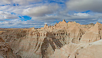 Constant erosin displayed at Badlands National Park,South Dakota