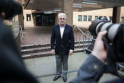 Publicist Max Clifford leaves Southwark Crown Court, Southwark Crown Court, London, United Kingdom. Friday, 28th March 2014. Picture by Daniel Leal-Olivas / i-Images
