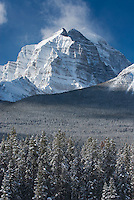 Mount Temple in winter, Banff National Park Alberta Canada