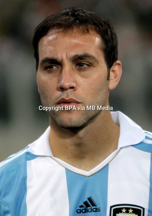 Football Fifa Brazil 2014 World Cup Matchs-Qualifier / South America - Group Matches /<br /> Peru vs Argentina 1-1 ( National Stadium-Lima ,Peru )<br /> Leandro DESABATO of Argentina , During the match between Peru and Argentina