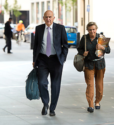© Licensed to London News Pictures. 06/09/2015. London, UK. VINCE CABLE and his wife RACHEL SMITH  arriving at BBC Broadcasting House in London where VINCE CABEL is due to appear on The Andrew Marr Show, on which the migrant crisis is expected to be the main topic. Photo credit: Ben Cawthra/LNP