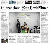 "THE NEW YORK TIMES. ""Dying Infants and No Medicine: Inside Venezuela's Failing Hospitals""  by Nicholas Casey. Pg A1. May 17, 2016.  (nyti.ms/27oUSrV)"