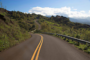 Curved road, Waimea Canyon, Kauai, Hawaii