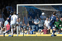 Photo: Ashley Pickering.<br /> Southend United v Colchester United. Coca Cola Championship. 06/04/2007.<br /> Jamie Cureton of Colchester (no. 8) scores his second goal (0-2)