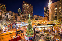 Westlake Center & Park, Holiday Season, Downtown Seattle