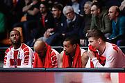 Delusione panchina Armani Milano, EA7 EMPORIO ARMANI OLIMPIA MILANO vs VALENCIA BASKET, EuroLeague 2017/2018, PlalaDesio Desio 22 marzo 2018 FOTO: Bertani/Ciamillo