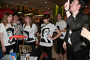 Rachel Hurtwood, Olivia Althorne, Peaches Geldof and Lily Evan, Surrealism at Selfridges. London. 22 March 2007.  -DO NOT ARCHIVE-© Copyright Photograph by Dafydd Jones. 248 Clapham Rd. London SW9 0PZ. Tel 0207 820 0771. www.dafjones.com.