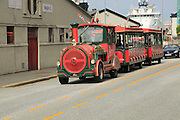 Road train tourist transport city of  Bergen, Norway