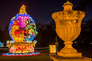 The Rooster - The Magical Lantern Festival gardens at Chiswick House from January 19 until February 26. The gardens are hosting the show which celebrates the Chinese New Year. 2017 is the year of the Rooster. Spread out over 65 acres of the Chiswick House site, there are more than 50 illuminated lanterns. London 17 Jan 2017