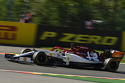 August 30, 2019, Spa Francorchamps, Belgium: Sauber Driver KIMI RAIKKONEN (FIN)in action during the second free practice session of the Formula one Belgian Grand Prix at the SPA Francorchamps circuit - Belgium (Credit Image: © Pierre Stevenin/ZUMA Wire)