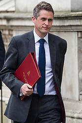 London, UK. 23rd April 2019. Gavin Williamson MP, Secretary of State for Defence, arrives in Downing Street for the first Cabinet meeting since the Easter recess.