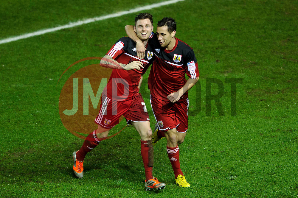 Bristol City Midfielder Paul Anderson (ENG) celebrates scoring a goal with Forward Sam Baldock (ENG) to give his side a 2-0 lead during the second half of the match - Photo mandatory by-line: Rogan Thomson/JMP - Tel: Mobile: 07966 386802 29/01/2013 - SPORT - FOOTBALL - Ashton Gate - Bristol. Bristol City v Watford - npower Championship.