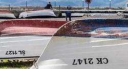 THEMENBILD - einige Boote liegen am Strand von Crikvenica, aufgenommen am 19. April 2017, Crikvenica, Kroatien // Some boats lying on the beach of Crikvenica, on 2017/04/19, Crikvenica, Croatia. EXPA Pictures © 2017, PhotoCredit: EXPA/ Stefanie Oberhauser